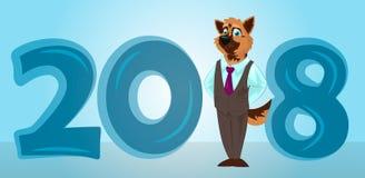 Cão engraçado dos desenhos animados Imagem de Stock Royalty Free