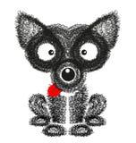 Cão engraçado no fundo branco Imagem de Stock Royalty Free