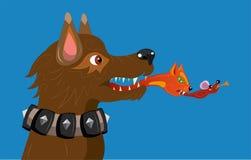 Cão fantástico. ilustração royalty free