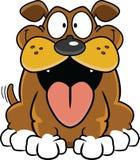 Cão feliz dos desenhos animados ilustração stock