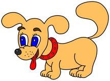 Cão feliz pequeno Ilustração do Vetor