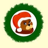 Cão festivo, ano novo ilustração royalty free