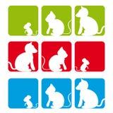 Cão, gato, rato Imagens de Stock Royalty Free