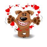 Cão no amor imagem de stock royalty free