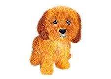 Cão Ockapoo do ¡ de Ð Ilustração da aguarela Fotos de Stock Royalty Free