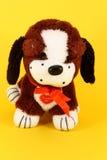 Cão pequeno colorido do luxuoso Imagem de Stock Royalty Free