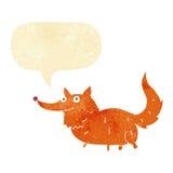 Cão pequeno dos desenhos animados com bolha do discurso Imagens de Stock
