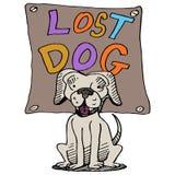 Cão perdido ilustração royalty free