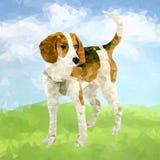 Cão poli Outdoors-03 ilustração do vetor