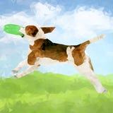 Cão poli Outdoors-02 ilustração royalty free