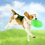 Cão poli Outdoors-07 ilustração do vetor