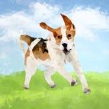 Cão poli Outdoors-04 ilustração stock