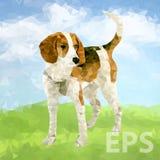 Cão poli Outdoors-03 [convertido] ilustração royalty free