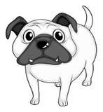 Cão que está apenas em preto e branco Fotos de Stock