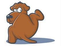 Cão que faz xixi ilustração do vetor