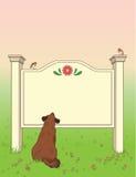 Cão que olha o quadro indicador Fotografia de Stock Royalty Free