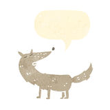 cão retro da dança dos desenhos animados Imagem de Stock Royalty Free