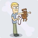 Cão ruim ilustração do vetor