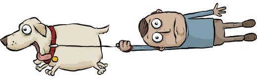 Cão running ilustração stock
