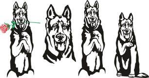 Cão, símbolo de 1918 ilustração royalty free