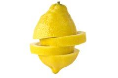 Cédrat jaune sur un fond blanc. image stock