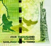 Cédula da moeda de África Fotografia de Stock