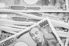 Cédula da moeda do iene japonês Imagens de Stock