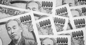 Cédula da moeda do iene japonês Imagem de Stock