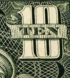 Cédula da moeda dos EUA Fotografia de Stock
