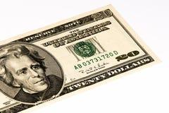 Cédula da moeda dos EUA Foto de Stock Royalty Free