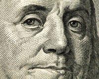 Cédula da moeda dos EUA Fotos de Stock