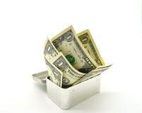 cédula de Um-dólar Fotografia de Stock Royalty Free