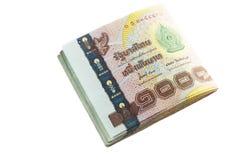 Cédula do baht tailandês imagens de stock