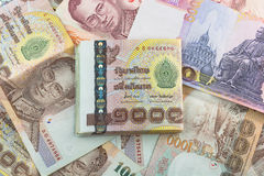 Cédula do baht tailandês fotos de stock royalty free