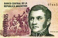 Cédula do currancy de Ámérica do Sul Foto de Stock