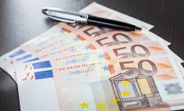 Cédula do Euro Fotografia de Stock Royalty Free
