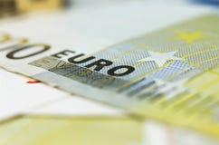 Cédula do Euro Imagens de Stock Royalty Free