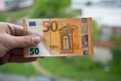 Cédula do euro do Ne 50 Foto de Stock
