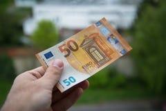 Cédula do euro do Ne 50 Fotografia de Stock
