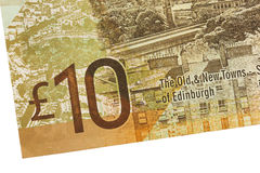 Cédula escocesa, 10 libras Foto de Stock Royalty Free