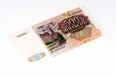 Cédula europeia do currancy, rublo de russo Foto de Stock Royalty Free