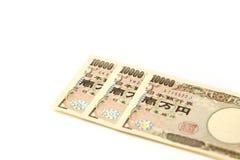 Cédula japonesa 10000 ienes Foto de Stock Royalty Free