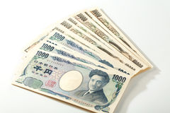 Cédula japonesa 10000 ienes e 1000 ienes Fotos de Stock Royalty Free