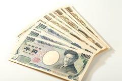 Cédula japonesa 10000 ienes e 1000 ienes Fotografia de Stock