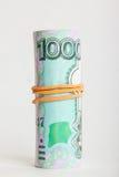 Cédula mil rublos Imagens de Stock Royalty Free