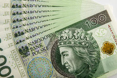 Cédula 100 PLN Imagens de Stock Royalty Free
