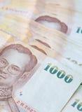 Cédula tailandesa da moeda do banho Imagem de Stock Royalty Free