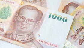 Cédula tailandesa da moeda do banho Imagens de Stock Royalty Free
