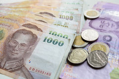 cédula tailandesa do dinheiro Fotos de Stock