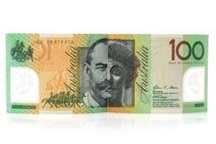 Cédulas australianas da moeda $100 Imagem de Stock Royalty Free